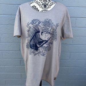 William Rast Gray Fish Shirt NWT